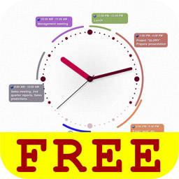 時計の文字盤上に予定を表示するアナログ感が心地良いスケジュールアプリ Ik Calendar Free Isuta イスタ おしゃれ かわいい しあわせ
