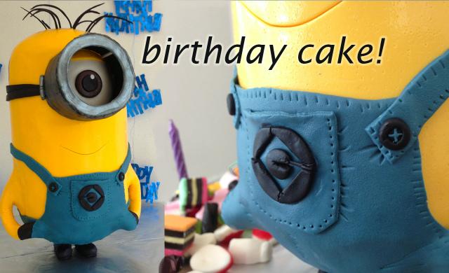 minion despicable me 3d cake