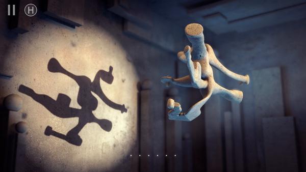 物体を回転させて影絵を作る頭脳パズル『Shadowmatic』