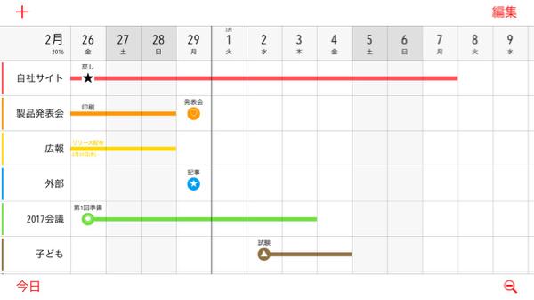 家族 カレンダー アプリ