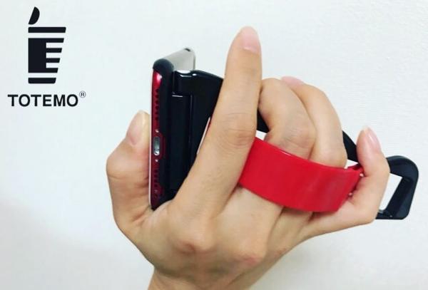 動画撮影がはかどりそう…iPhoneをハンディビデオのように使えるアイデアケース『TOTEMO』