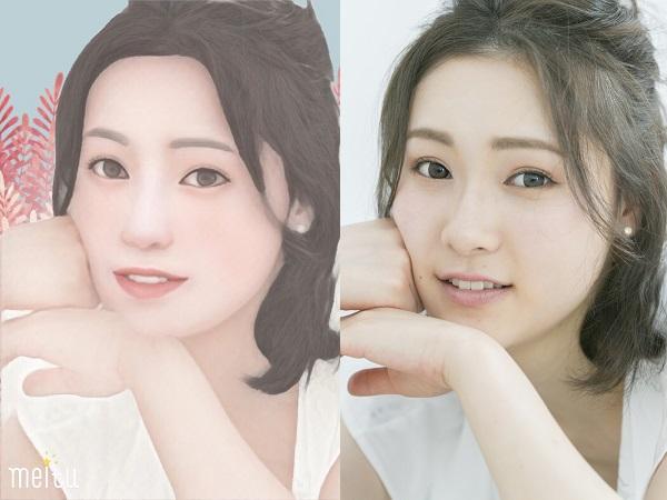 インスタのアイコンにも使えそう!美顔修正アプリ『Meitu』の似顔絵作成機能が超楽しい♡