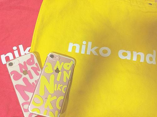 「であう にあう」niko and...のシリコン&ロゴ入り透明iPhoneケースがかわいすぎる事件♡