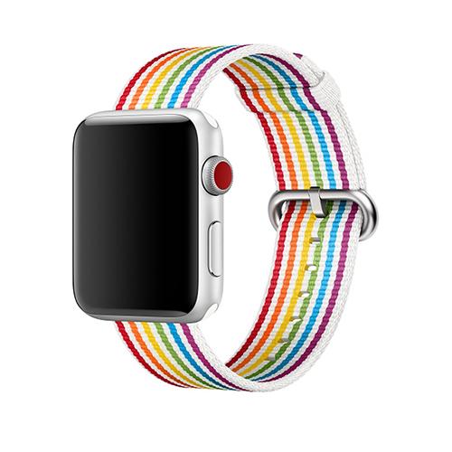 Apple Watchにレインボーフラッグをモチーフにした『プライド』文字盤と『プライドエディションウーブンナイロン』バンドが登場!