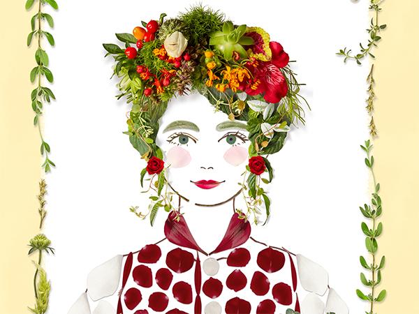 ナチュラルでかわいい♡「ボタニカルフェイスメーカー」で植物パーツを使ったSNSアイコンにぴったりの似顔絵が作れちゃう!