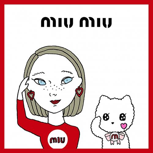 友達にも教えてあげたい♡miu miuの公式LINEスタンプが期間限定配信中!