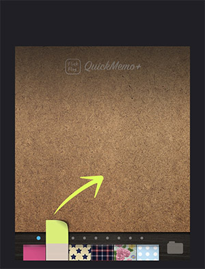0468ccf518 使い方は、アプリを立ち上げて付箋を上にスワイプすると、すぐに入力画面に切り替わるので…