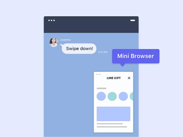 【LINE】トーク画面でウェブページを小さく表示できる「ミニブラウザ」機能がiOS限定でお試し可能に!
