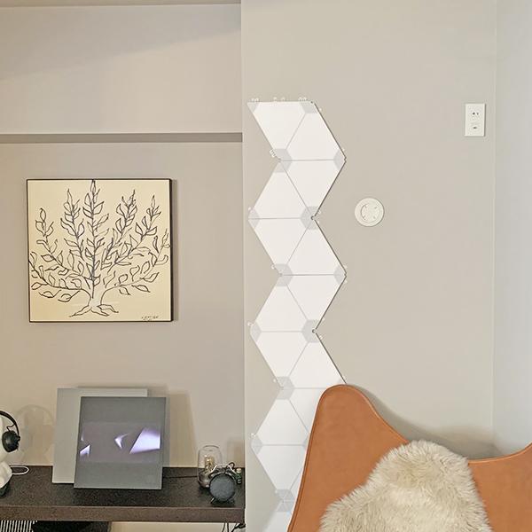 おしゃれな部屋づくりにいかが?組み合わせ無限大のLED照明「Nanoleaf」がプレゼントにもぴったりでした♩