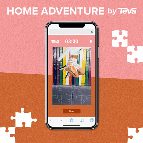 スポーツサンダルブランドの「Teva」が、オリジナルパズルで遊べるデジタルコンテンツを公開中♩