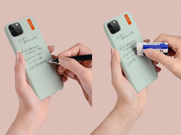 スマホの背面がメモスペースに!?書いて消せるウェアラブルメモ「wemo」からiPhone 12向けケースが発売。