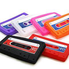 【iphone4用】カセットテープシリコンケース