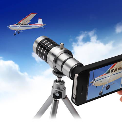 iPhone4カメラキット(望遠レンズ・iPhone4S対応・光学12倍・スタンド付)