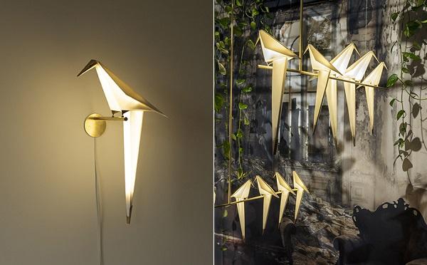 こんなの欲しかった!折り紙アートのような鳥の形のランプがステキ