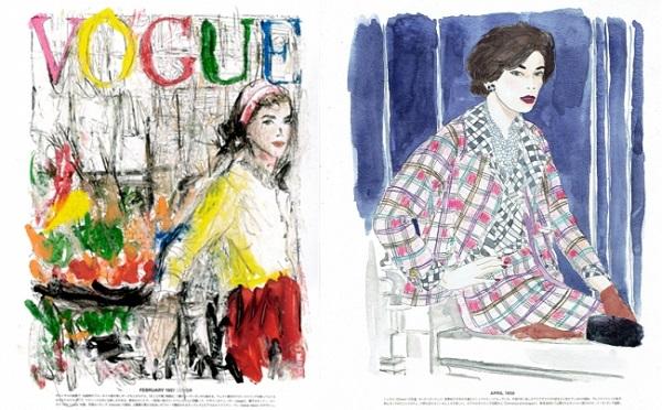 VOGUEの付録に「ファッションぬり絵」!有名モデルやデザイナーとのコラボキャンペーン開催