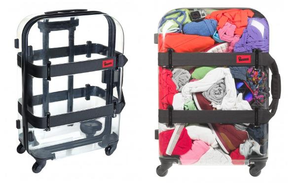 これは面白い!中身が丸見えなスケルトンのスーツケース