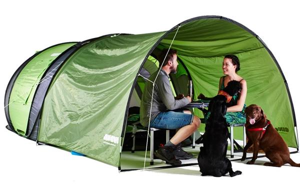 アウトドア初心者でも安心☆ワンタッチで完成&ソーラーパワー付きのテントが秀逸