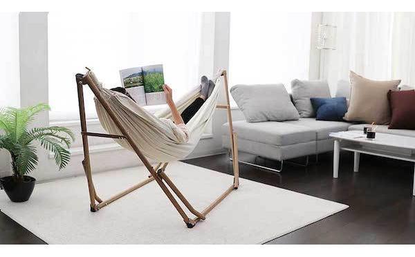 こんなの欲しかった♡組み立て簡単♪お部屋のインテリアにもなる室内用ハンモックがとっても便利