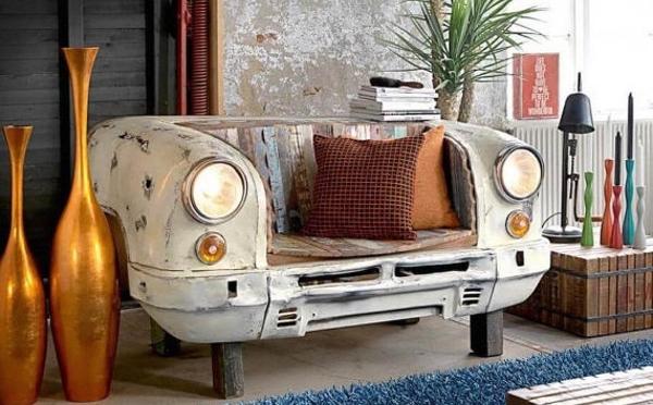 ヴィンテージ感がたまらない!廃車を再利用した家具シリーズが個性的でおしゃれ