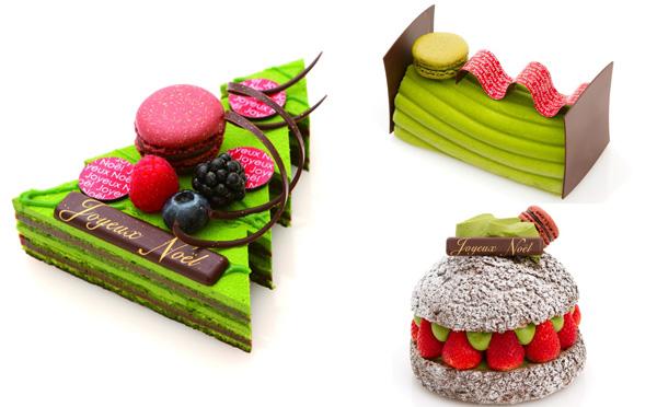 抹茶の風味がたまらない♡サダハル・アオキが和テイストのクリスマスケーキを発表