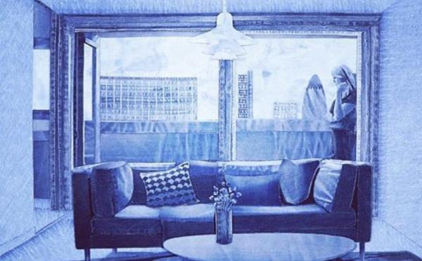 見事なアップサイクル♪デニム生地で描いたアート作品がカッコイイ