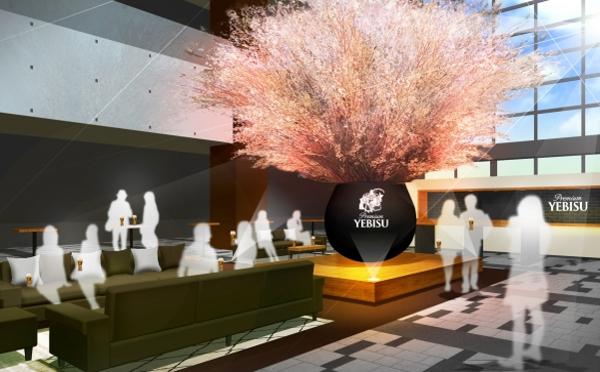 極上エビスがたったの300円!ロブションのおつまみと一緒に満開の桜をフライングゲット♡
