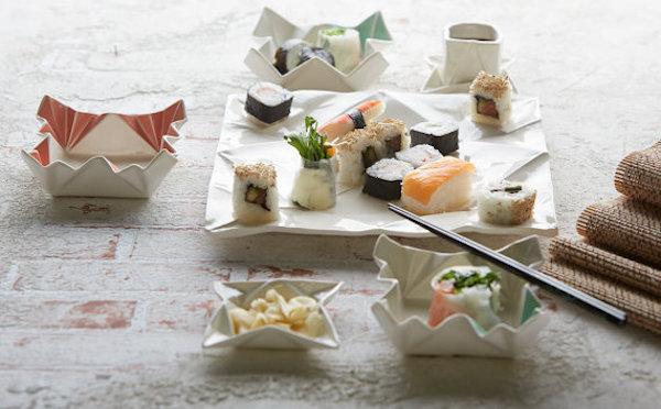 シワや折り目まで再現☆折り紙モチーフの陶器の食器がオシャレ♪