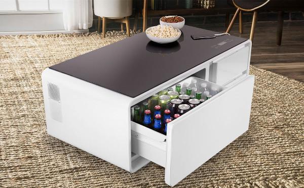 家飲み派におすすめ☆冷蔵庫&Bluetooth内蔵のスマートテーブルが快適すぎる!