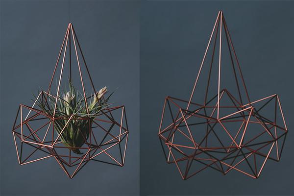 飾り方は自由自在☆ミニマムで幾何学的なプランターがスタイリッシュ