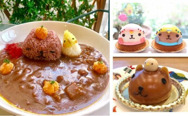 癒しの限定メニューにほっこり♡カピバラさんとコラボした「ことりカフェ」東京・大阪で同時開催!