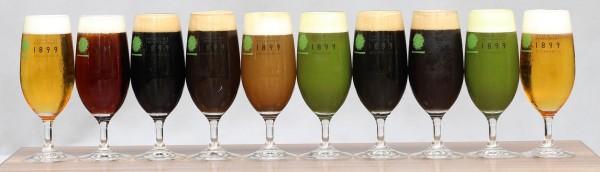 新作【和紅茶ビール】(左から5番目)は新感覚の味!