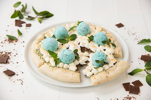 チョコミントアイスピザ