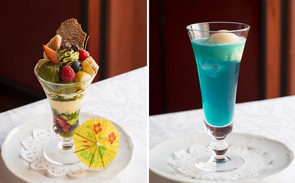 新橋の芸者さんをイメージ!資生堂パーラーの雅なパフェ&ソーダで贅沢なひと時を♡