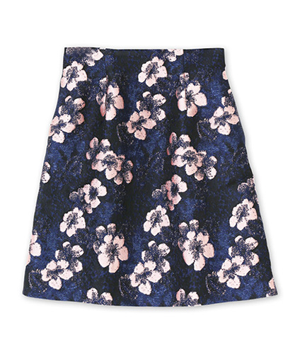 Flower-Jacquard-Skirt