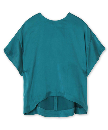 Silk-Satin-Crew-Neck-Blouse