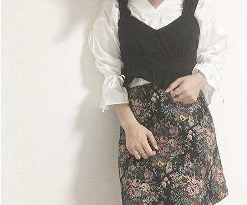 GUのゴブランスカートで作る冬先取りコーデ♡スタイルUP見えにも期待大!