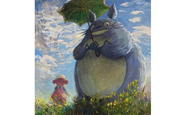 モネがトトロを描いたら…?歴史的名画とアニメキャラクターがコラボしたアート