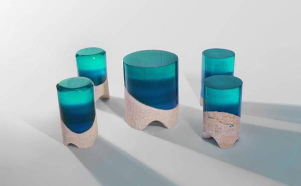 自然の美しさをお部屋の中に!アーティストが作る石とアクリルの家具シリーズがステキ♡