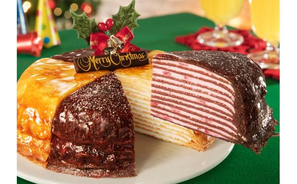 ドトールの定番「ミルクレープ」が2色のホリデー仕様に♩「クリスマスミルクレープ」の予約がスタート!