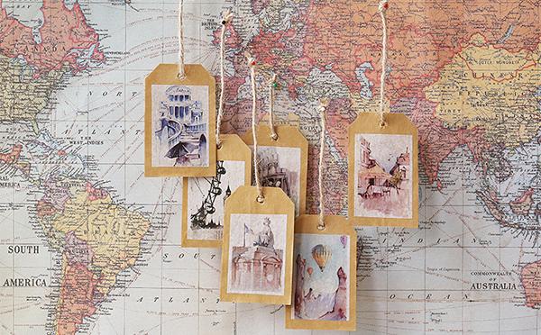 タージマハールやスフィンクスも!各国の風景を描いたヴィレヴァンの新作マステで旅する気分を楽しんで♡