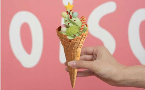 ツリーモチーフがカワイイ♡原宿「コイソフ」クリスマス限定ソフトクリームはピスタチオ風味♪