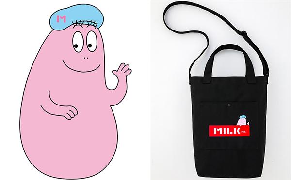 ベレー帽姿のバーバパパにキュン♡「MILKFED.×バーバパパ」のコラボバッグはヘビロテ必至の2WAY仕様