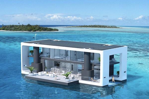 海の上でぷかぷか♩憧れの水上生活を叶える船みたいな住宅がステキ♡