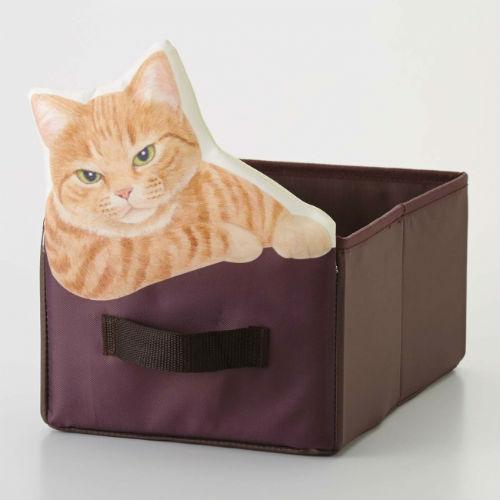 箱からのぞくニャンコにきゅん♡フェリシモの「猫まみれ収納ボックス」に癒されたい♪