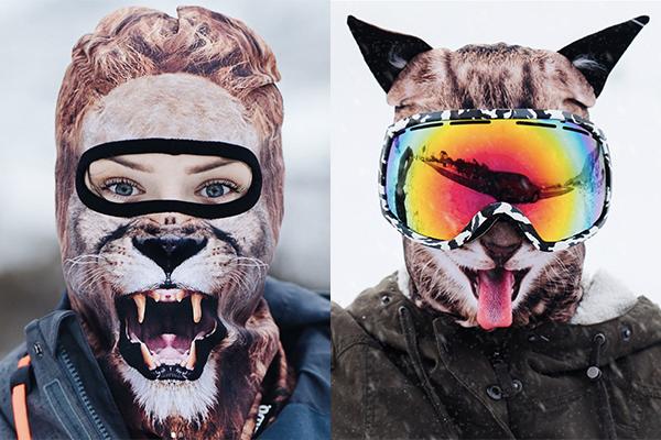 ゲレンデで目立つこと間違いなし!キュートな動物に変身できちゃうスキーマスク