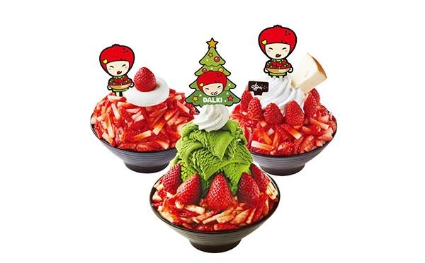 クリスマスカラーにワクワク♡ソルビンの新作は抹茶アイス×ミルクかき氷にいちごがたっぷり!