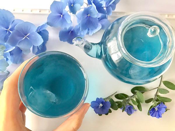 """まるで澄んだ青空を閉じ込めたよう…!思わず見とれちゃう""""青い緑茶""""がヴィレヴァンに登場"""