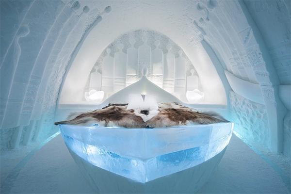 1年中氷の世界が楽しめちゃう♩すべて氷と雪で作られた幻想的な「アイスホテル」がフォトジェニック