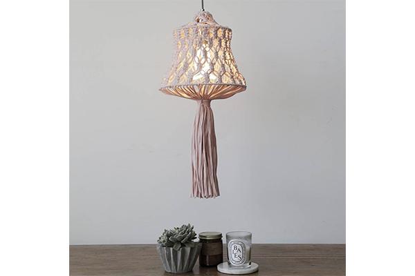 自分でつくれるのがうれしい♡エコ素材でDIYするマクラメ編みのランプシェードがエキゾチック