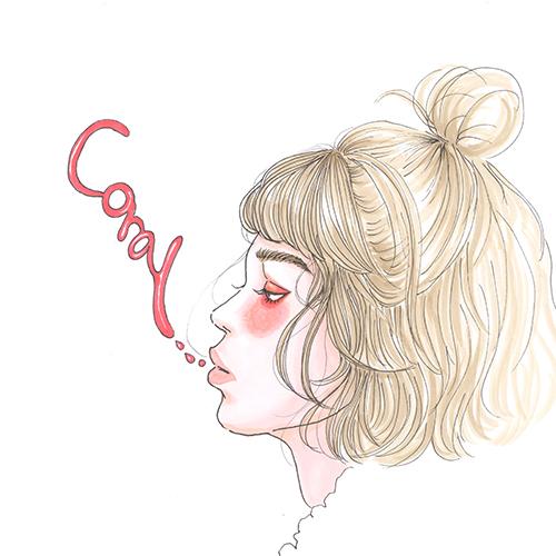 """顔色が明るく見える優秀カラー""""コーラルピンク""""をドラマティックに使う春メイクHow To♡"""